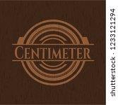 centimeter wooden emblem   Shutterstock .eps vector #1233121294