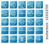 symbols of electronic...
