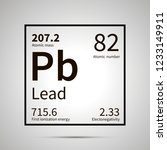 lead chemical element with... | Shutterstock . vector #1233149911