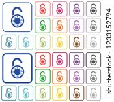 unlocked round combination lock ...   Shutterstock .eps vector #1233152794
