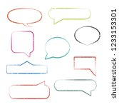 set of grunge speech bubbles... | Shutterstock . vector #1233153301