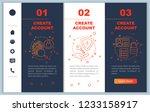 account creation onboarding... | Shutterstock .eps vector #1233158917