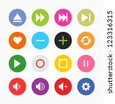 media player control button ui... | Shutterstock .eps vector #123316315