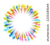 hands up silhouettes  frame...   Shutterstock .eps vector #1233185644