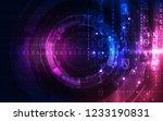 abstract tech background.... | Shutterstock .eps vector #1233190831