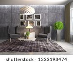 interior with chair. 3d... | Shutterstock . vector #1233193474