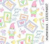 garden gnomes  stamps ... | Shutterstock .eps vector #1233196837