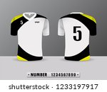 black and yellow football club...   Shutterstock .eps vector #1233197917
