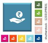 indian rupee earnings white... | Shutterstock .eps vector #1233199831