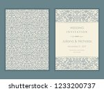 wedding  invitation  with... | Shutterstock .eps vector #1233200737