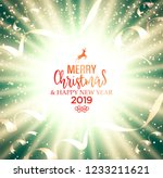 festive christmas golden... | Shutterstock .eps vector #1233211621