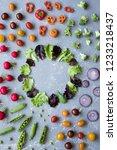 frame of fresh organic... | Shutterstock . vector #1233218437