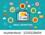 email marketing  internet... | Shutterstock . vector #1233228604