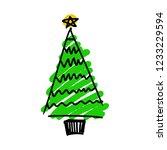 vector illustration of hand... | Shutterstock .eps vector #1233229594
