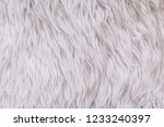 close up white shaggy... | Shutterstock . vector #1233240397