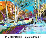 original digital painting of...   Shutterstock . vector #123324169