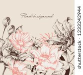 vintage floral background ... | Shutterstock .eps vector #1233242944