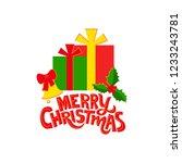 illustration of happy christmas ... | Shutterstock .eps vector #1233243781