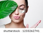 portrait of young beautiful... | Shutterstock . vector #1233262741