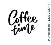 hand drawn coffee lettering... | Shutterstock . vector #1233262747