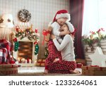 merry christmas and happy... | Shutterstock . vector #1233264061