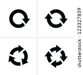 4 arrow pictogram refresh... | Shutterstock .eps vector #123327859