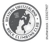 rock climbing club stamp ... | Shutterstock .eps vector #123327907