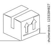 one continuous line carton... | Shutterstock .eps vector #1233284827