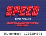 sport team font design ... | Shutterstock .eps vector #1233284971