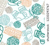vector seamless pattern with... | Shutterstock .eps vector #1233293767