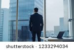 back view of the thoughtful...   Shutterstock . vector #1233294034