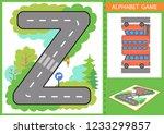 learn alphabet. children game.... | Shutterstock .eps vector #1233299857