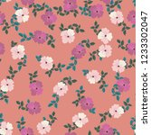 seamless ditsy pattern in small ... | Shutterstock . vector #1233302047