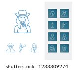 avatar icon set and doctor with ...