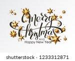 merry christmas calligraphic...   Shutterstock .eps vector #1233312871