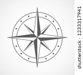 compass icon in flat design.... | Shutterstock .eps vector #1233317941