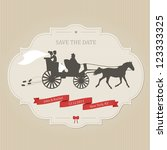 funny wedding invitation with... | Shutterstock . vector #123333325