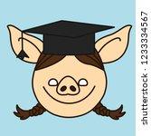 emoji with happy graduate... | Shutterstock .eps vector #1233334567