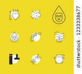 cosmetology icons set with... | Shutterstock . vector #1233338677