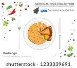 sammarinese cuisine. european... | Shutterstock .eps vector #1233339691