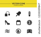 mixed icons set with bitcoin ...