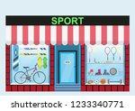sports shop. shop window  range ... | Shutterstock .eps vector #1233340771