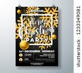 christmas party flyer... | Shutterstock .eps vector #1233349081