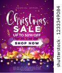 christmas sale design with... | Shutterstock .eps vector #1233349084