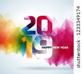 2019 happy new year... | Shutterstock .eps vector #1233349174