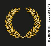 gold award laurel wreath.... | Shutterstock .eps vector #1233355141