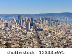 san francisco downtown seen...   Shutterstock . vector #123335695