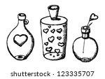 sketch vector valentine card...   Shutterstock .eps vector #123335707