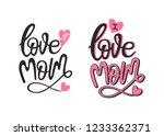 love you mom. typography design ...   Shutterstock .eps vector #1233362371