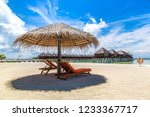 maldives   june 24  2018 ...   Shutterstock . vector #1233367717